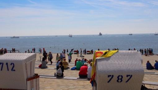Büsum, Buesum, Hauptstrand, Strand, Strandkorb, Watt, Schiffe, Schleswig-Holstein, Nordsee, Dithmarschen, Ferienwohnung